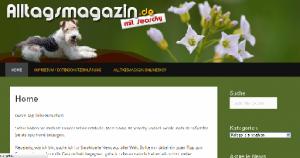 Ein Ausschnitt aus der Website Alltagsmagazin.de