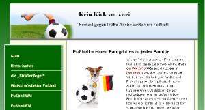Ein Ausschnitt der Seite Keinkickvorzwei.de.