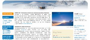 Ein Ausschnitt der Seite Skiurlaub.info.