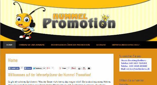 Ausschnitt aus der Website Onebusiness.de